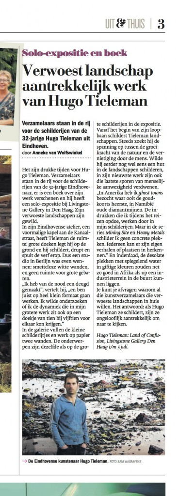 hugo tieleman eindhovens dagblad 18 juni 2015-uitsnede