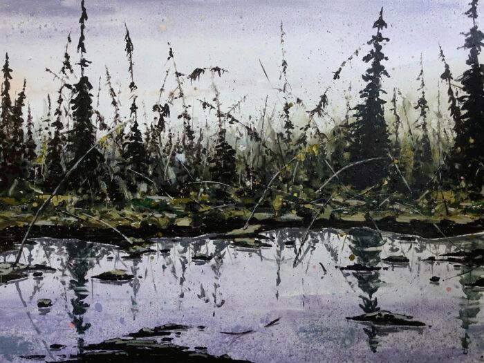 Drunken forest 2 (melting permafrost)